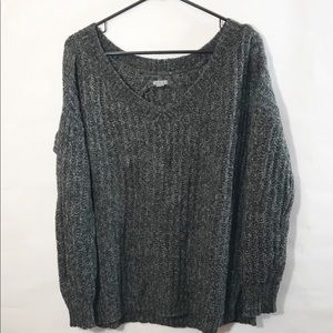 Aerie Sweater V Neck Cozy Gray Women's L